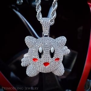Iced Out Stainless steel Kirby Necklace
